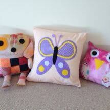 Bonzo, Flutterby and Hoot - Cushions