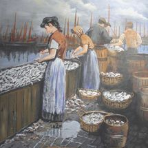 Scottish Herring Girls In Yarmouth