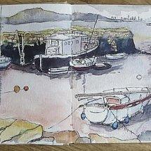 Sketch Book Page, Charleston, Fife