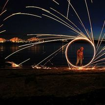 Steel Wool, Light Painting - Photograph