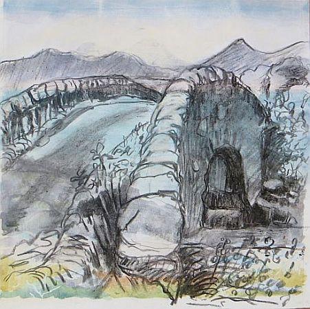 The hump-backed bridge, Loch Earn
