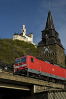 Railway in Rhine Valley at Braubach.