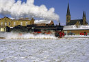 German steam train.