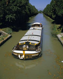 "Working barge ""Esperance"" on the Canal du Midi in the early 80's"