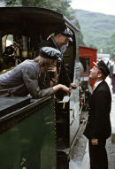 Time for a chat on the Festiniog Railway, late 70's