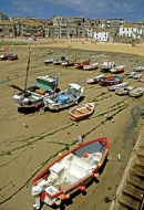 Low tide at St.Ives in 1990.