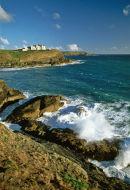 Lizard peninsular coastline, Cornwall.
