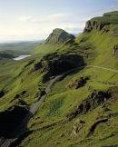 Road through the Quiraing, Isle of Skye, Scotland.