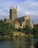 Worcester Cathedral & River Severn.