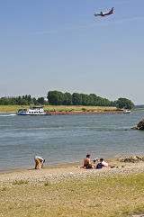 Rhine at Meerbusch, NRW, Germany.