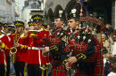 Scottish military Band, Jersey, 1980s.