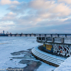 Ice on the River Dnieper, Kiev