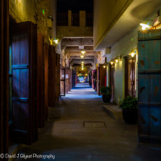 A quiet alleyway in Souq Waqif, Doha.