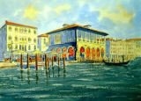 A Sunny Day at the Fish Market, Venice. (SOLD)