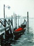 Gondola & Landing Stage, Venice. (SOLD)