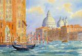 The Grand Canal & Gondola, Venice