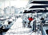 Having Lunch in Honfleur, France (SOLD)