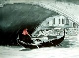 O Sole Mio, Rialto Bridge, Grand Canal, Venice. (SOLD)