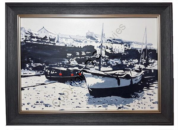 Port Coverack, Cornwall - Framed Oil Painting (Currently in Exhibition)
