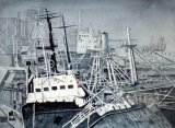 The Ship Graveyard, Montivideo, Uraguay. (SOLD)