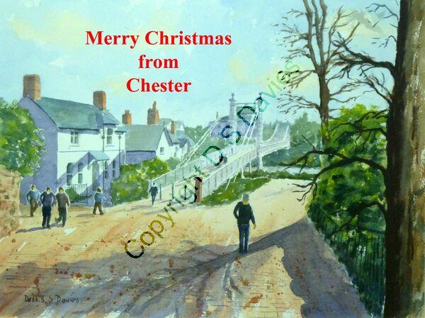 Merry Christmas Chester Suspension Bridge