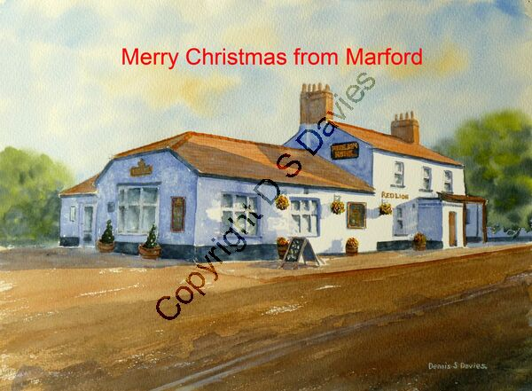Merry Christmas Red Lion Marford