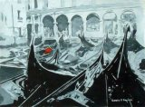The Red Seat, Gondolas, Venice (SOLD)