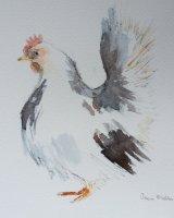 White hen
