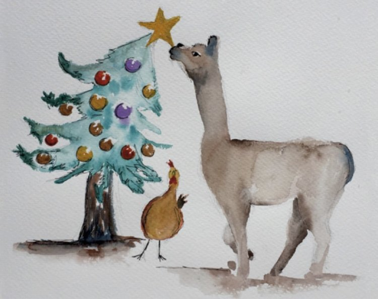Christmas Alpaca (out of stock)