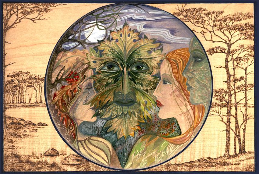 Dandelion Designs:- Cathy Myhilll - Green Man II