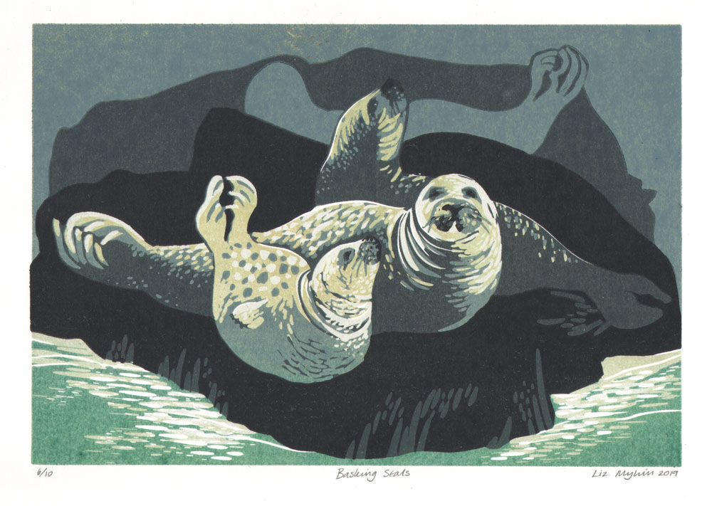 Dandelion Designs - Liz Myhill: Basking Seals £140