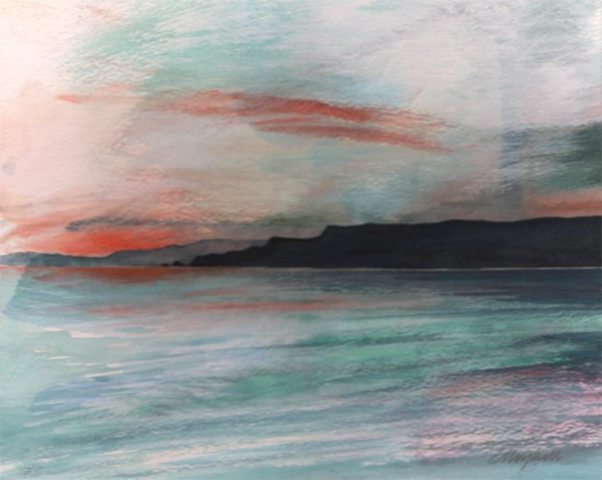 Dandelion Designs:- Cathy Myhilll - Evening Calm (Framed) £200