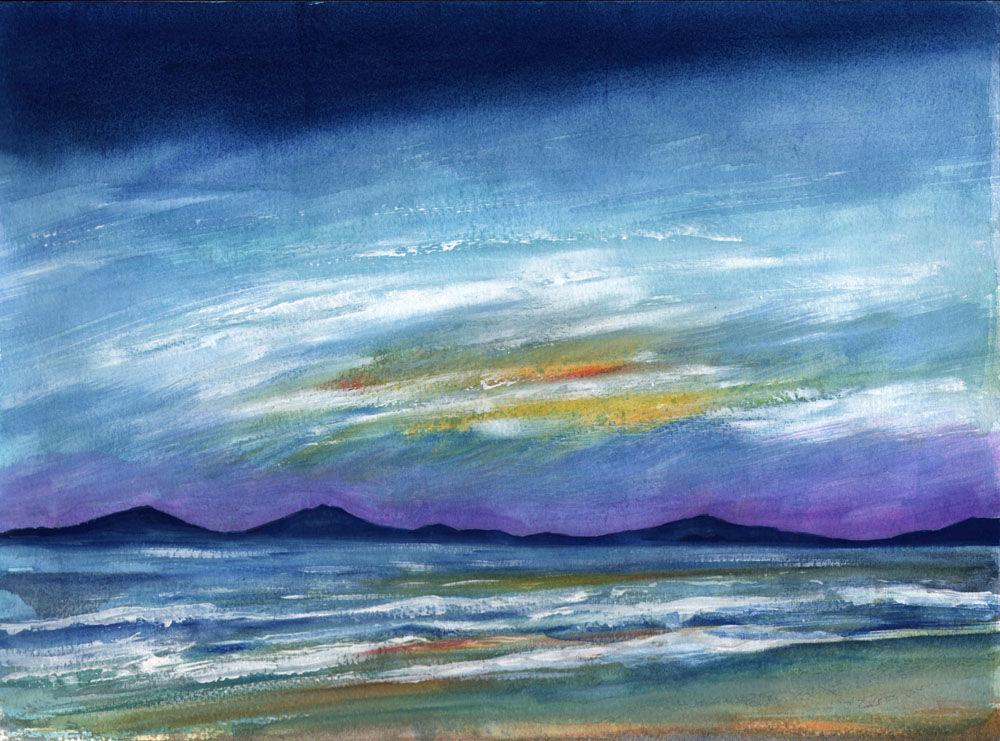 Dandelion Designs:- Cathy Myhilll - Evening Tide (Framed) £250