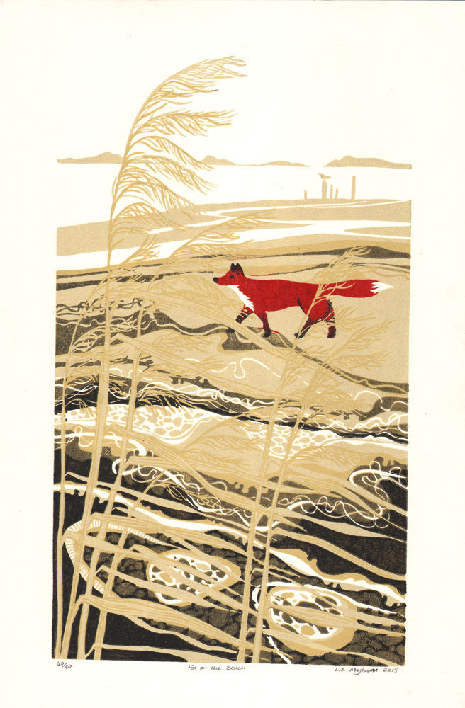 Dandelion Designs - Liz Myhill: Fox on the Beach £140