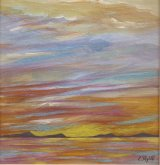 Golden Sunset mixed media £120 19x19