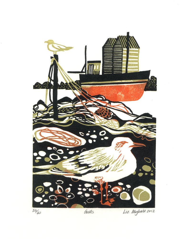 Dandelion Designs - Liz Myhill: Gulls £90