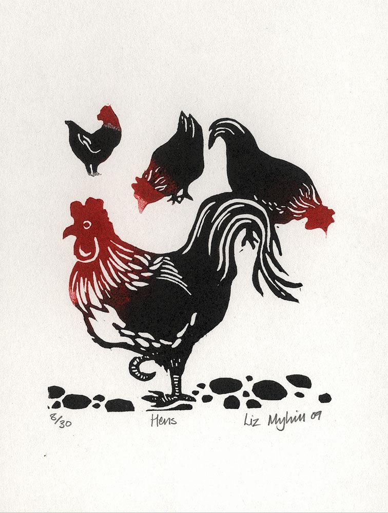 Dandelion Designs - Liz Myhill: Hens £40