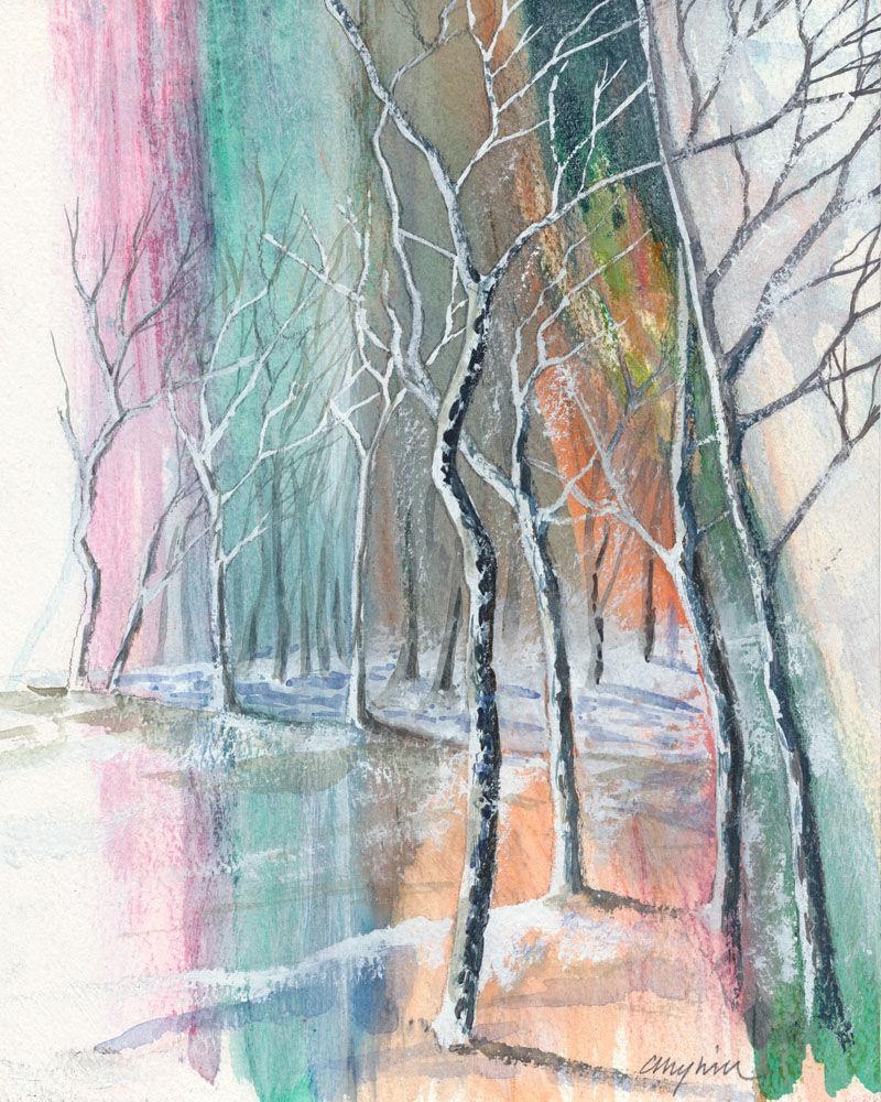 Dandelion Designs:- Cathy Myhilll - Icy Birchwood