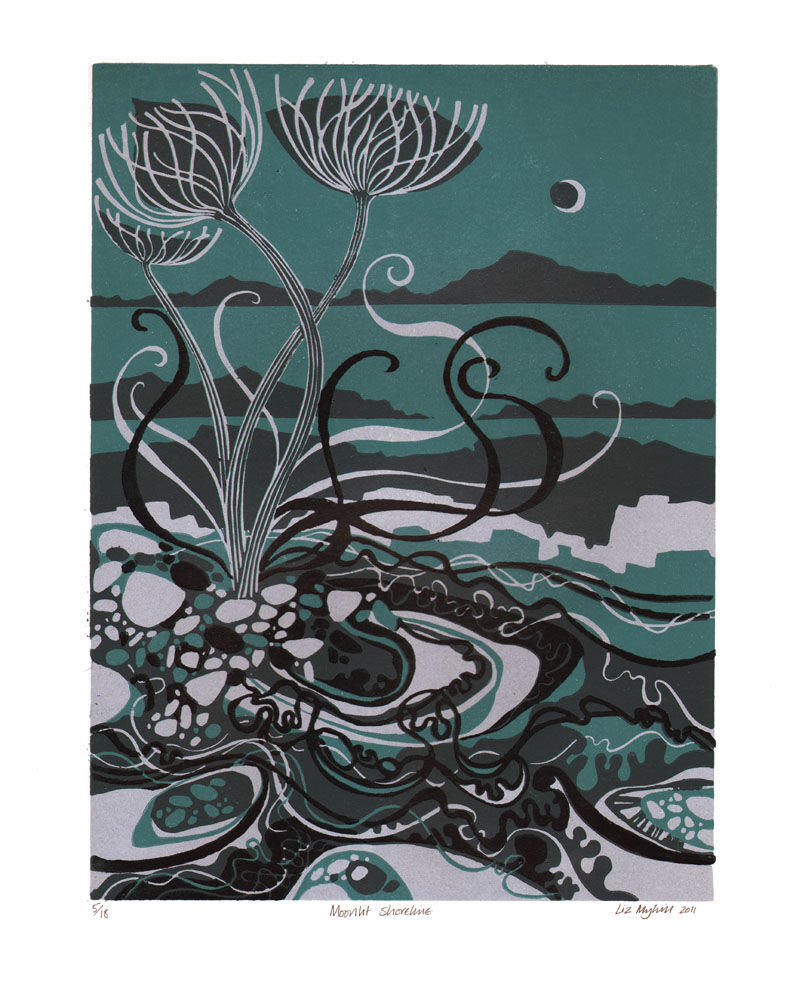 Dandelion Designs - Liz Myhill: Moonlit Shoreline £160