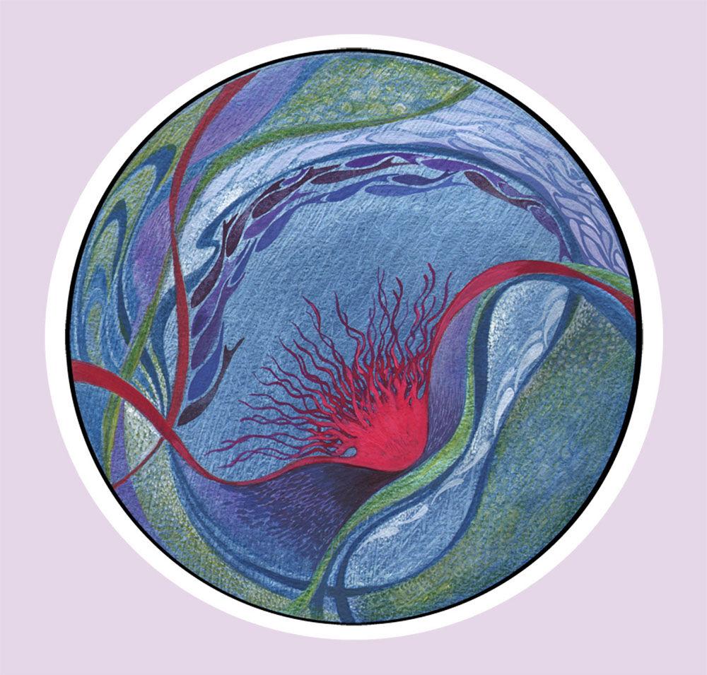 Dandelion Designs:- Cathy Myhilll - Ocean (Framed) £250