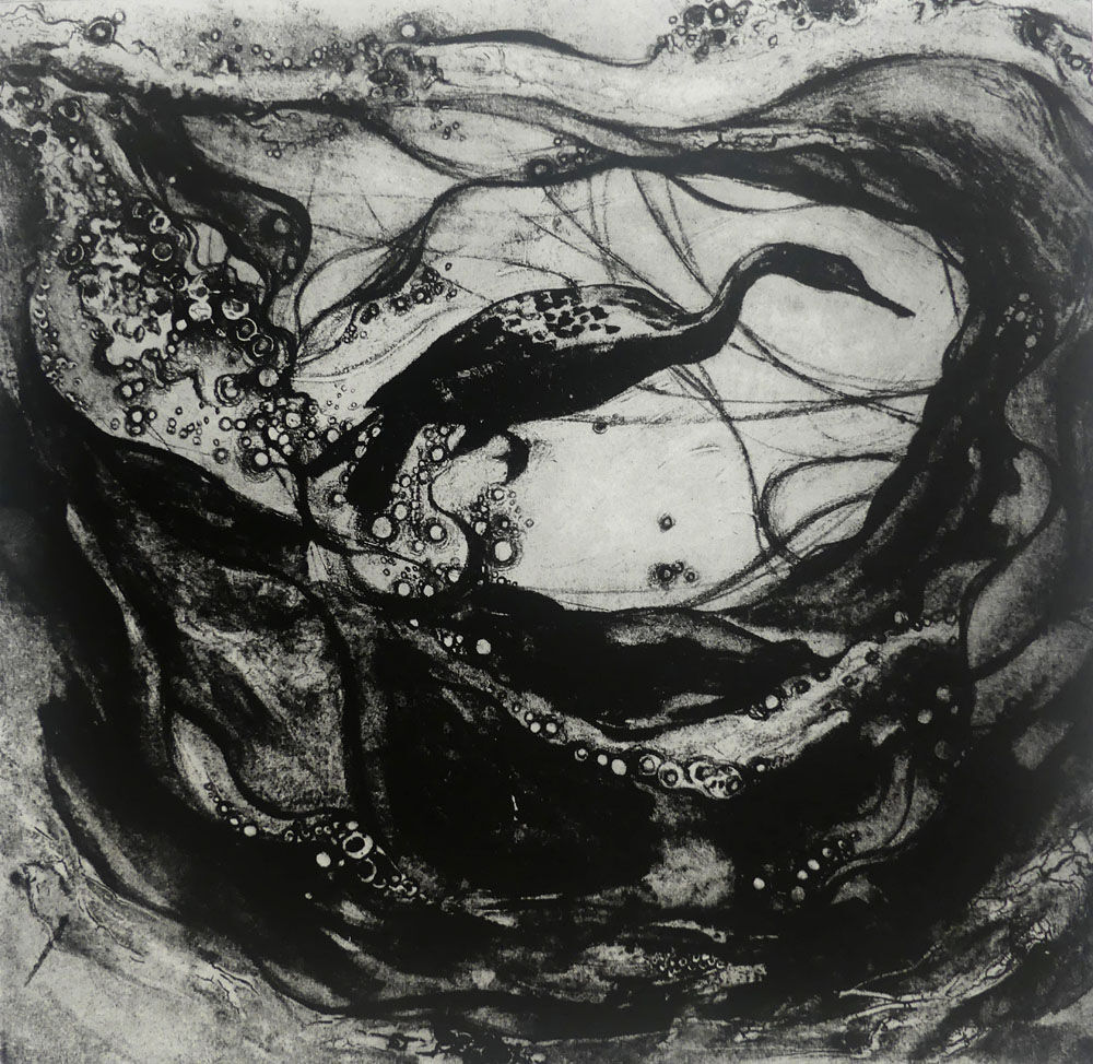 Pause Collagraph</br>Framed £500