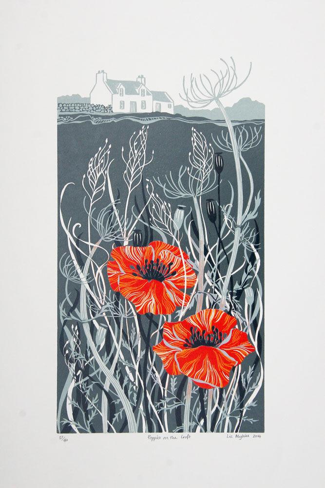Dandelion Designs - Liz Myhill: Poppies on the Croft £160