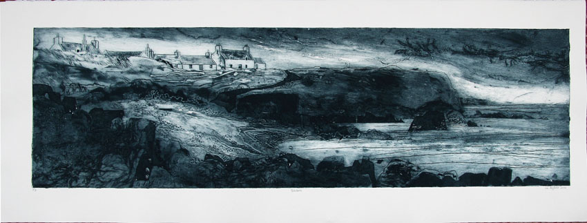 Portskerra Collograph 25x88