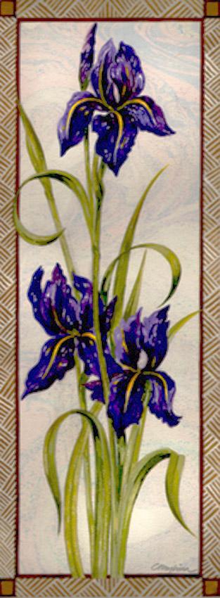 Dandelion Designs:- Cathy Myhilll - Purple Iris (Framed) £225