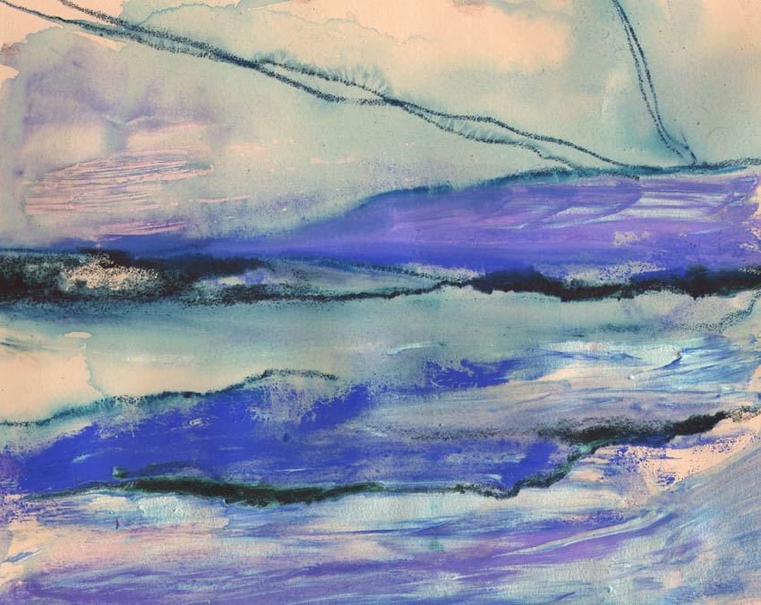 Dandelion Designs:- Cathy Myhilll - Purple Moor (Framed) £150