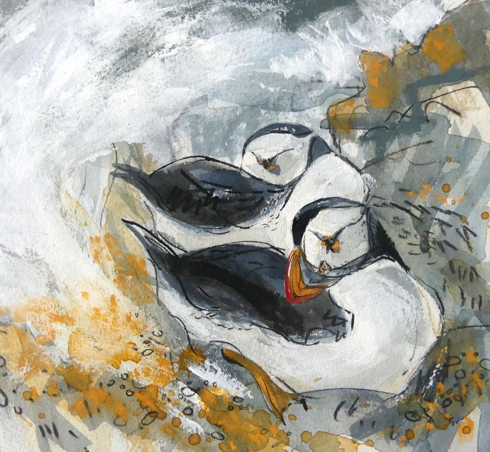 Dandelion Designs - Liz Myhill: Resting Puffins £350