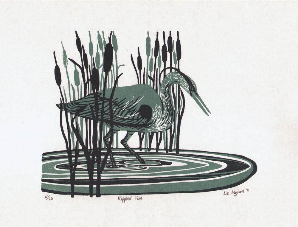 Dandelion Designs - Liz Myhill: Rippled Pool £90