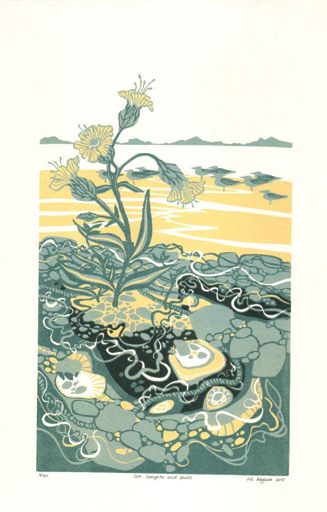 Dandelion Designs - Liz Myhill: Sea Campion and Gulls £140