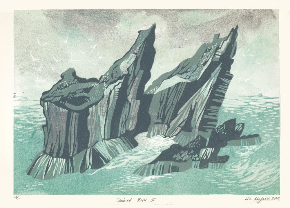 Dandelion Designs - Liz Myhill: Seabird Rock II £140
