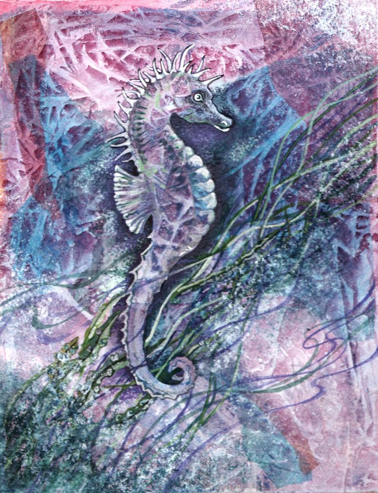 Dandelion Designs:- Cathy Myhilll - Seahorse